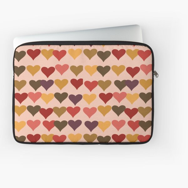 Colourful Heart Print GReeting Card Laptop Sleeve