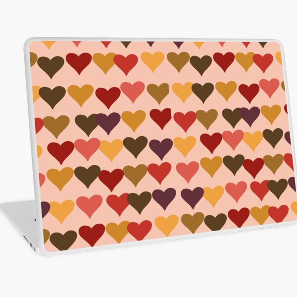 Colourful Heart Print GReeting Card Laptop Skin
