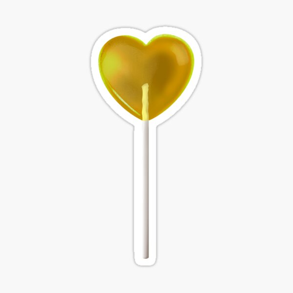 Yellow Lollipop Sticker