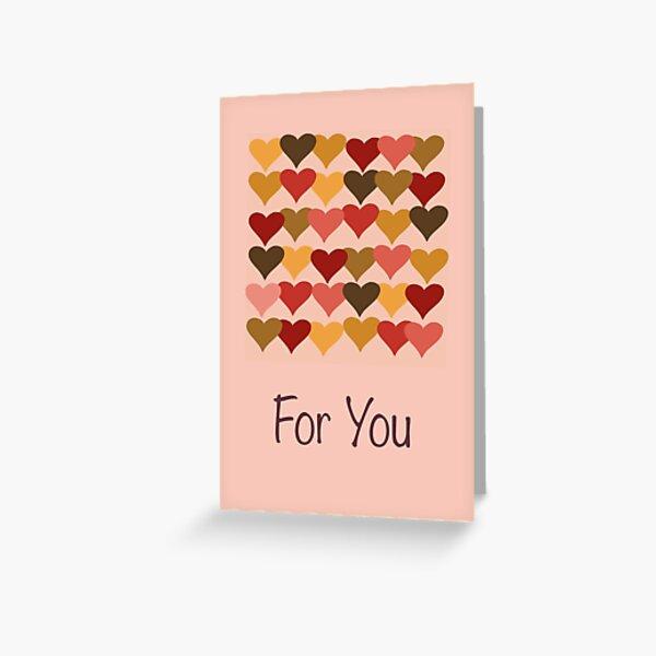 Colourful Heart Print GReeting Card Greeting Card