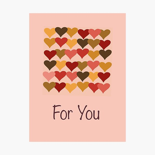 Colourful Heart Print GReeting Card Photographic Print