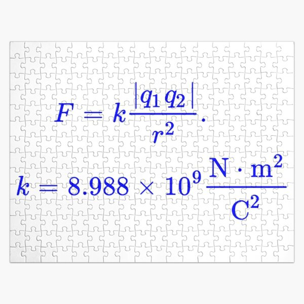 Coulomb's Law Jigsaw Puzzle