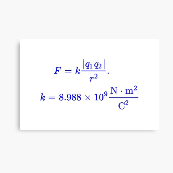 Coulomb's Law Metal Print