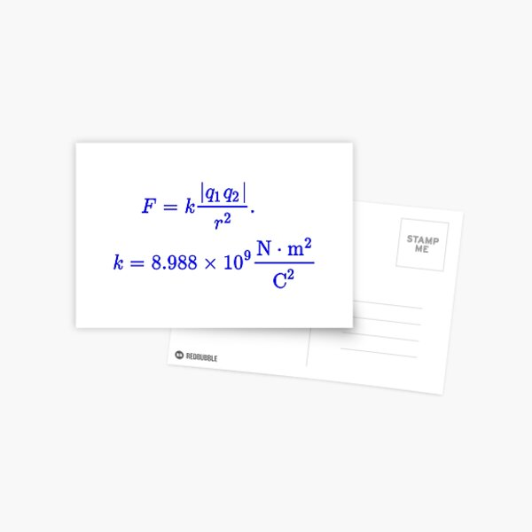 Coulomb's Law Postcard