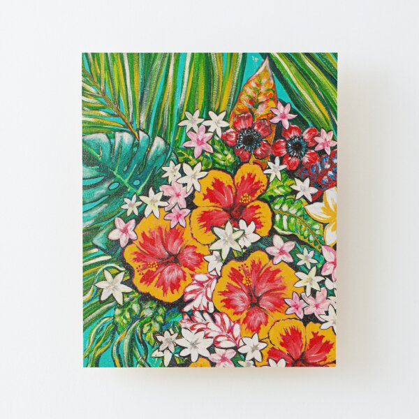 Alternative Tribute to Melanin #1- Flowers only Wood Mounted Print