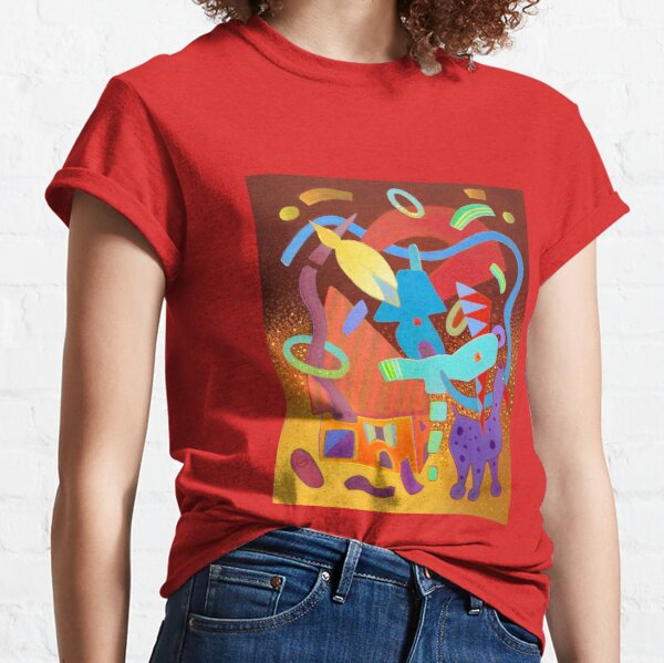 Stormy evening by the sea with dog Classic T-Shirt