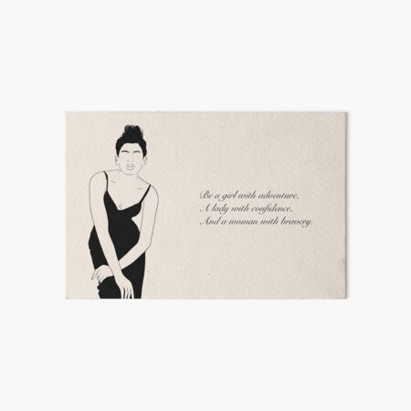 Lady with confidence Art Board Print