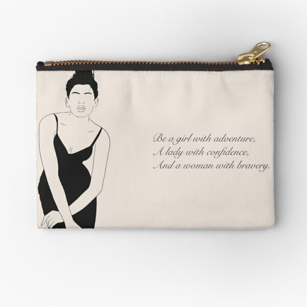 Lady with confidence Zipper Pouch