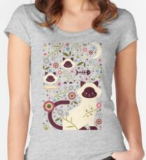 Siamese Cats Women's Fitted Scoop T-Shirt