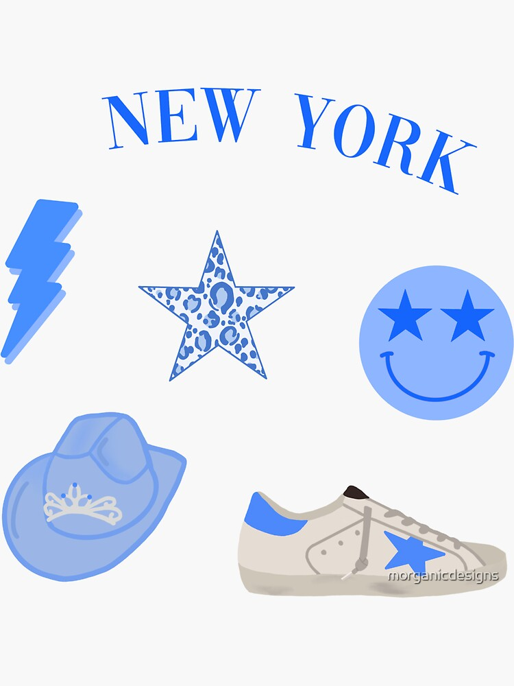 Blue Preppy Sticker Pack by morganicdesigns