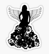 Angel and flowers Sticker