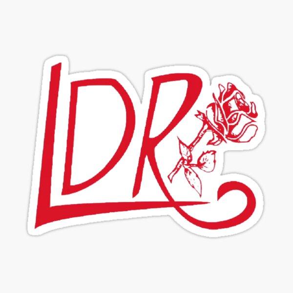 Lana Red Rose Logo  Sticker