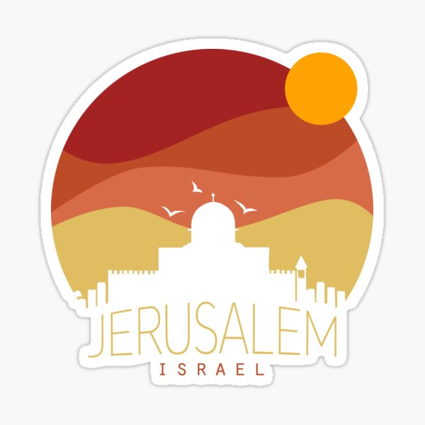 israel Jerusalem  Sticker
