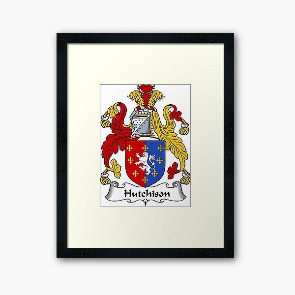 Hutchison Coat of Arms / Hutchison Family Crest Framed Art Print