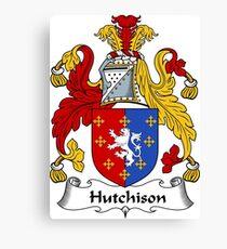 Hutchison Coat of Arms / Hutchison Family Crest Canvas Print