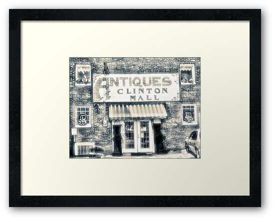 """""""Antiques... Clinton Mall, #4""""... prints and products by Bob Hall©"""