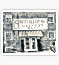 """Antiques... Clinton Mall, #4""... prints and products Sticker"