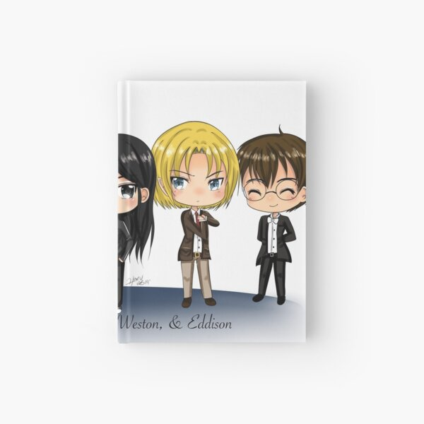 Chibis Karter, Braydon, Axel, Eddison, & Weston (More Than Blood) Hardcover Journal