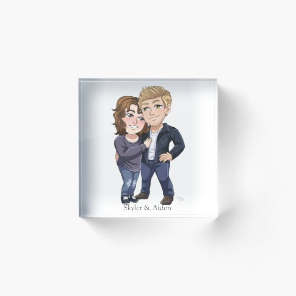 Chibi Skyler and Aiden (Boyfriends Maybe) Acrylic Block