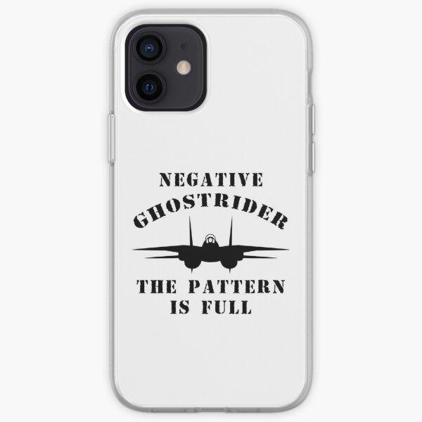 Negative Ghostrider The Pattern Is Full - Top Gun iPhone Soft Case