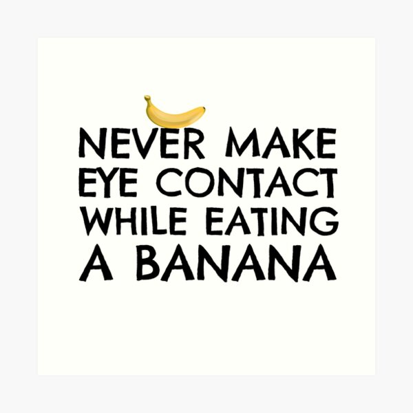 Funny Humour Dick Joke Banana Sex Art Print
