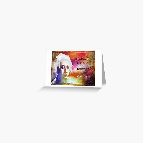 Einstein- imagination Greeting Card