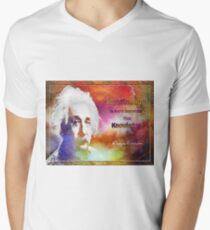 Einstein- imagination Men's V-Neck T-Shirt