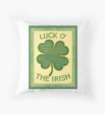 Luck O' the Irish Throw Pillow