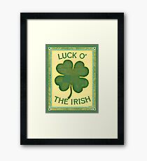 Luck O' the Irish Framed Print