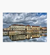 Turin Shrouded in Cloud  Photographic Print