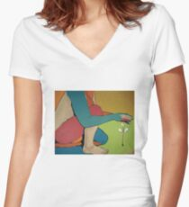 Nurturing - Abstract Art Women's Fitted V-Neck T-Shirt