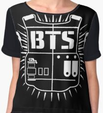 Bts (ARMY White) Chiffon Top