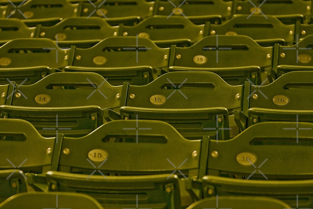 Stadium Seats - In Anticipation of  the Spectators for the Next Game by Buckwhite