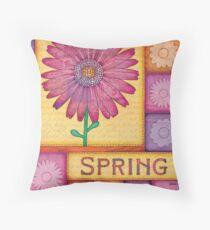Spring Daisies Throw Pillow