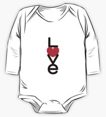 Love (05 - Black & Red on White) Kids Clothes