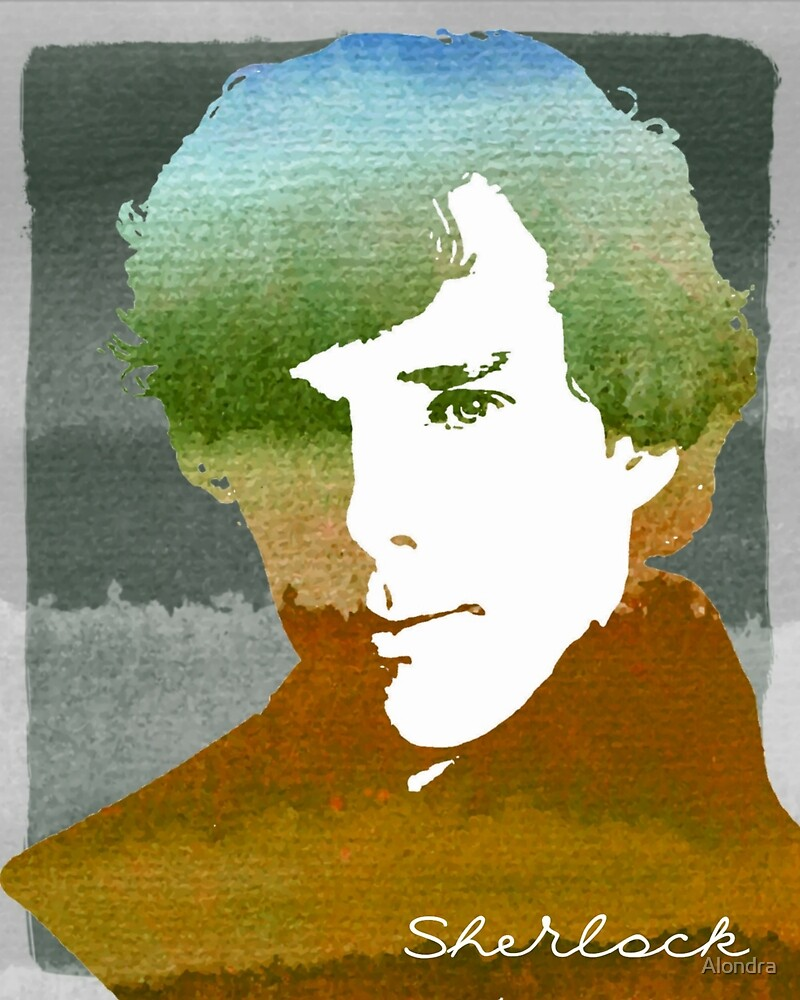 BBC Sherlock Holmes Watercolor Art by Alondra