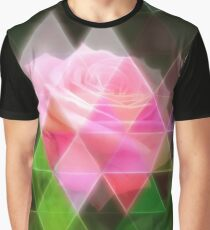 Pink Roses in Anzures 3 Art Triangles 1 Graphic T-Shirt