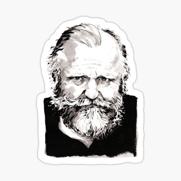 Frank Herbert Portrait Sticker