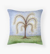 Whimsical Willow Tree Throw Pillow