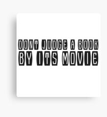 Books Movies Funny Clever humour Smart Joke Cool Canvas Print