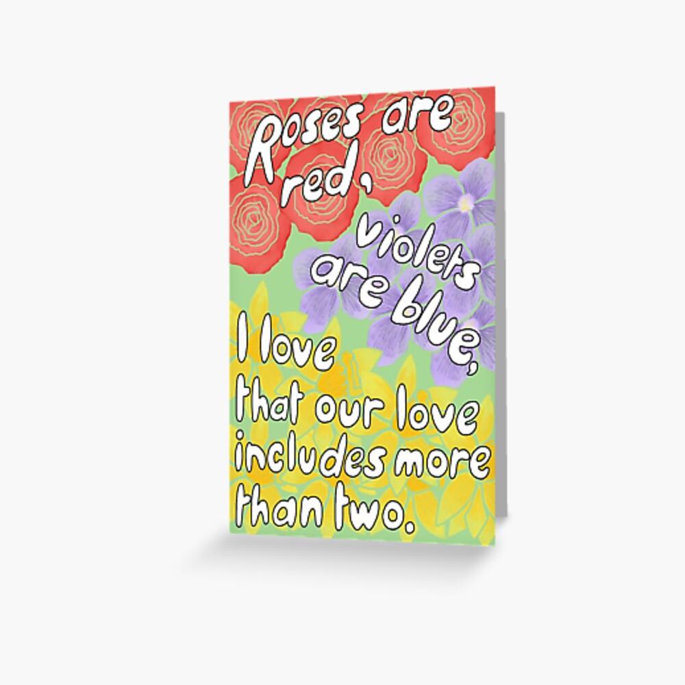 More Than Two Polyamorous Love Greeting Card