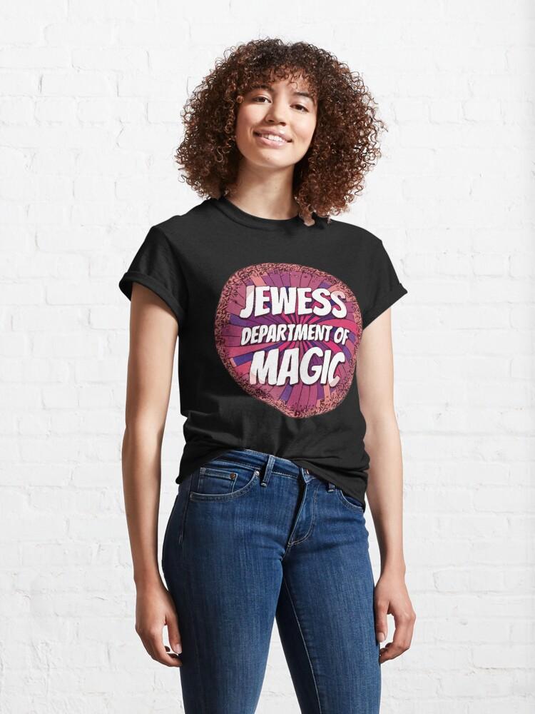 Alternate view of Jewess Dept of Magic [messy purple n peachy pinwheel] Classic T-Shirt