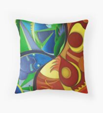 Color Chaos / Abstract Art - Colorful Throw Pillow