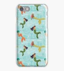 Coney Island Mermaid Pattern iPhone Case/Skin