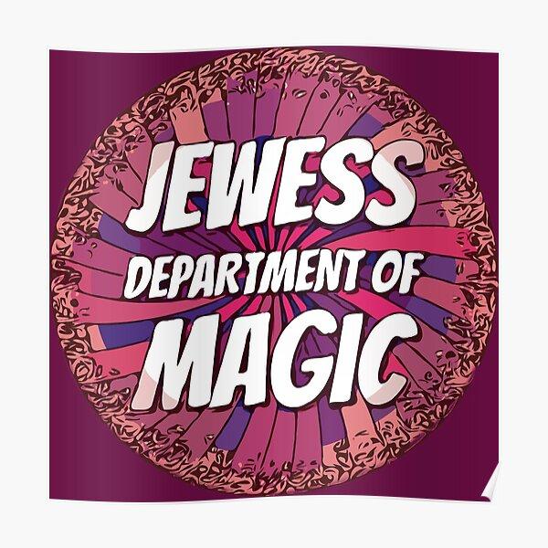 Jewess Dept of Magic [messy purple n peachy pinwheel] Poster
