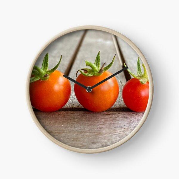 Tiny Fresh Tomatoes Clock