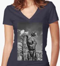 Sky soldier Women's Fitted V-Neck T-Shirt