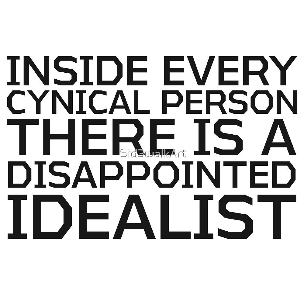 George Carlin Quote Cynical idealist Smart True Cool  by Sid3walkArt