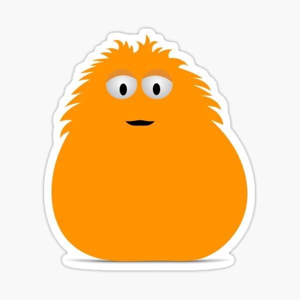 Orange Monster Sticker