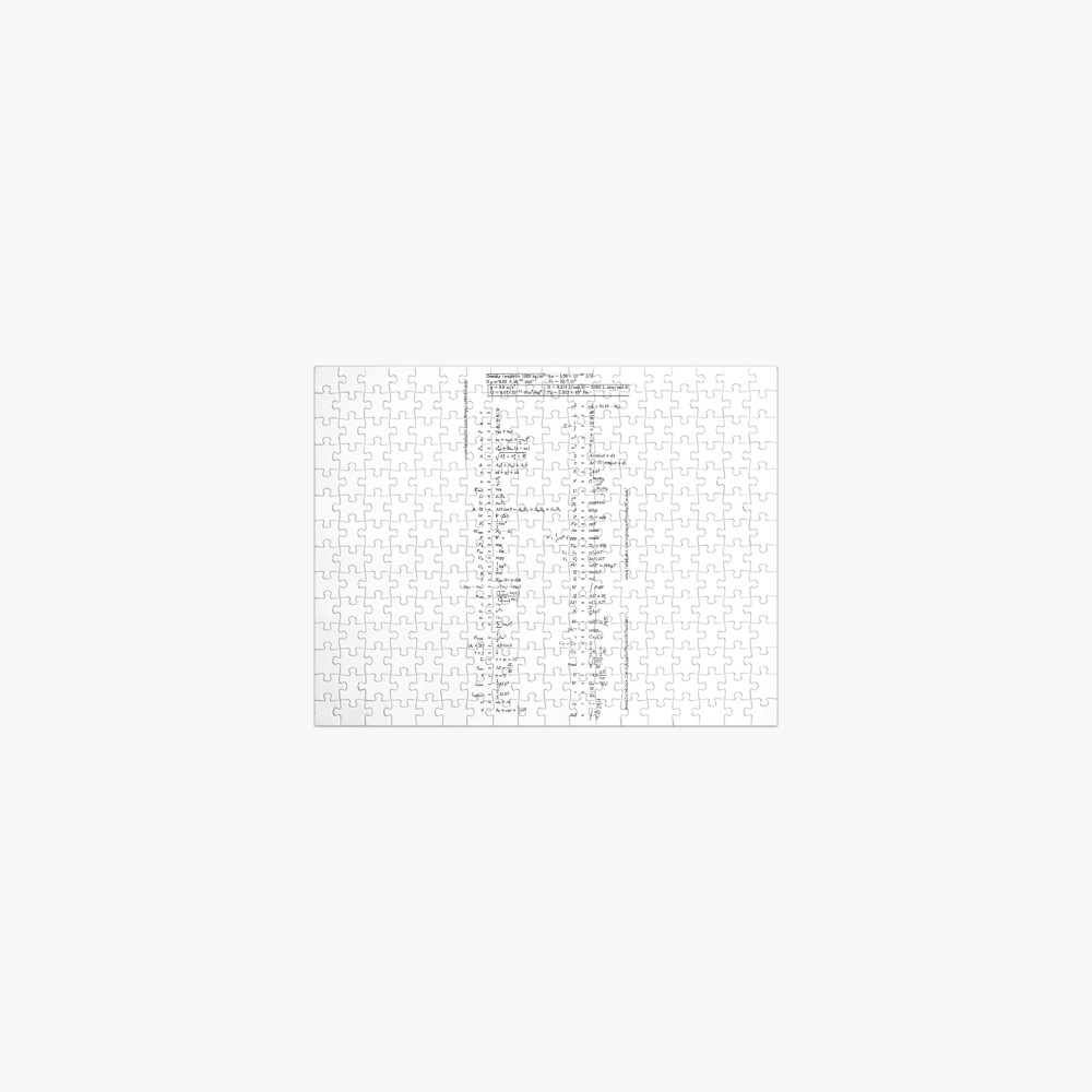 #Physics #Formula #Set, #length, distance, height, area, volume, time, speed, velocity, area rate, diffusion coefficient Jigsaw Puzzle